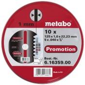 Metabo Promotion Trennscheiben 125x1,0x22,23 Inox, 10 Stück in Blechdose - 1