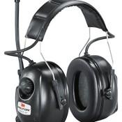 3M Kapselgehörschutz Radio XP, AM/FM, Kopfbügel, stereo, SNR 32 dB, MP3-Anschluss, 1 Stück, schwarz, HRXP7A01 - 1