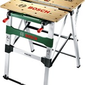 Bosch Home and Garden Arbeitstisch PWB 600, 4 Spannbacken, Karton (max. Tragfähigkeit 200 kg, Arbeitshöhe 834 mm, max. Spannbreite mit Klemme 525 mm) - 1